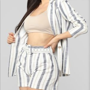 Fashion Nova striped suit set